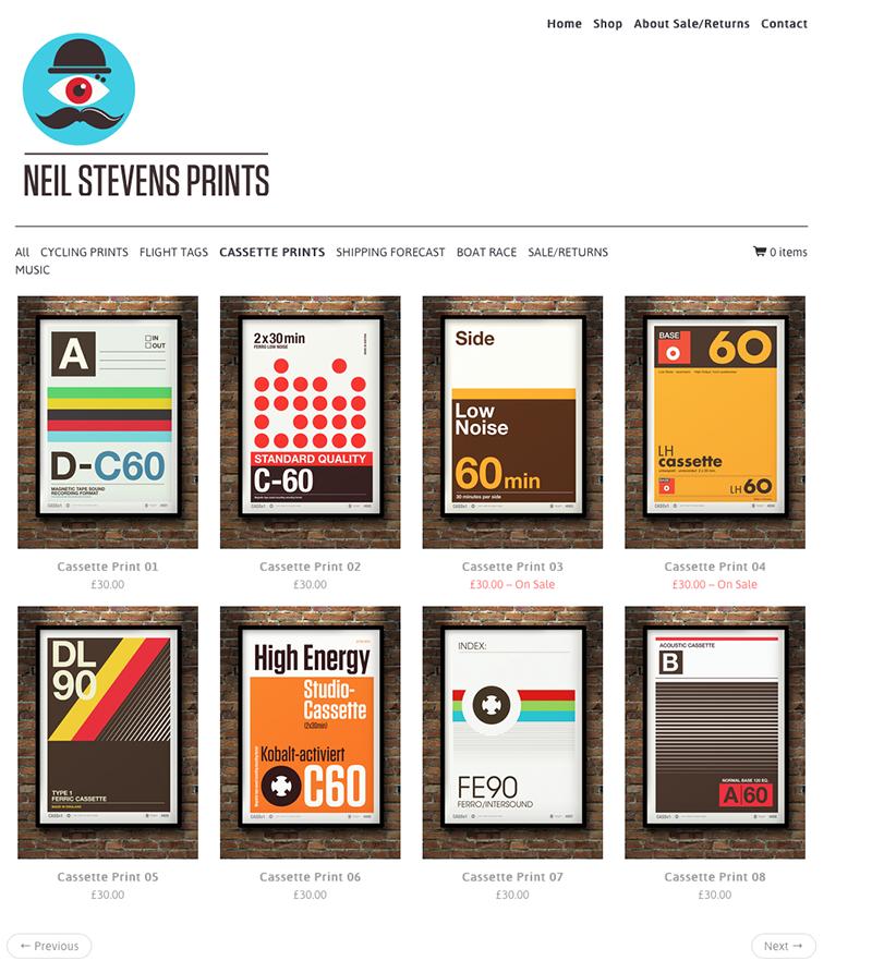 Webshop Neil Stevens Cassette Tape Posters