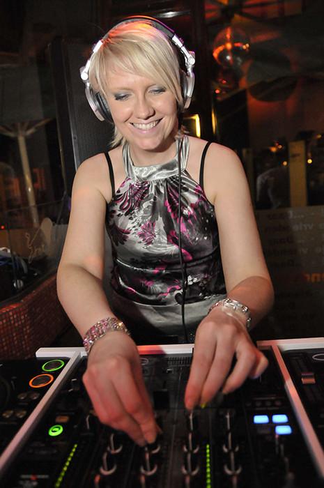 Miss Deedy spinning at DeedyLicious