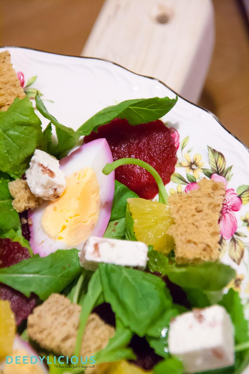 Bietensalade met sinaasappel en roze eieren   www.deedylicious.nl