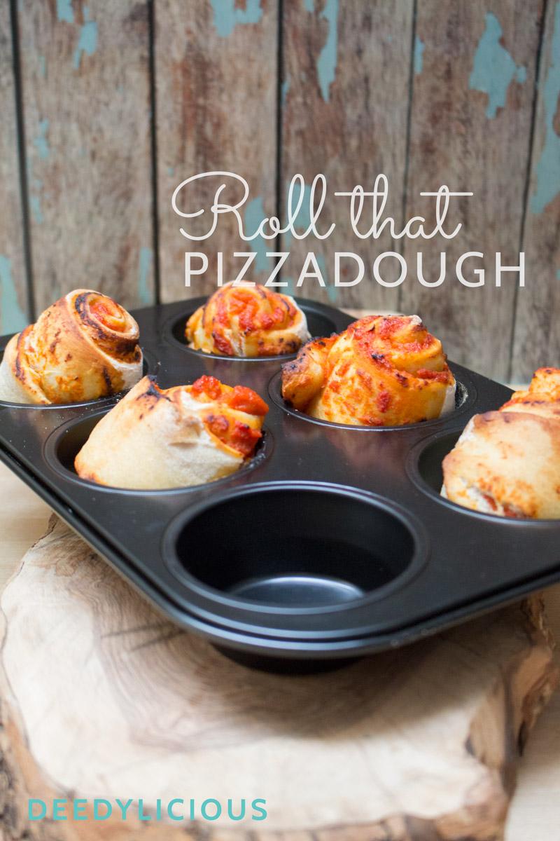 Pizzarolls; een hartig hapje van leftover pizzadeeg! | www.deedylicious.nl