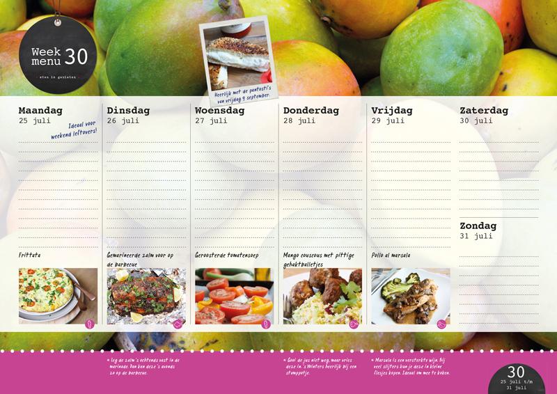 de Eetkalender 2016 van Francesca Kookt | www.deedylicious.nl