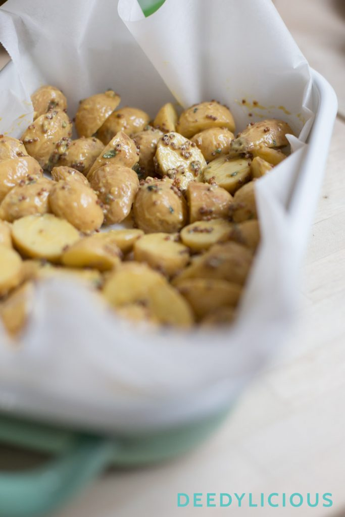 Mosterdaardappels met haricots verts