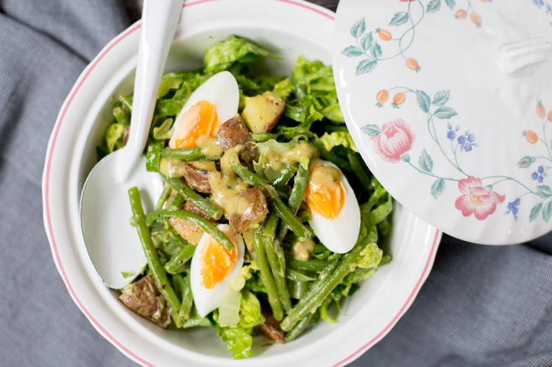Sperziebonen salade met mosterdrossing | www.deedylicious.nl