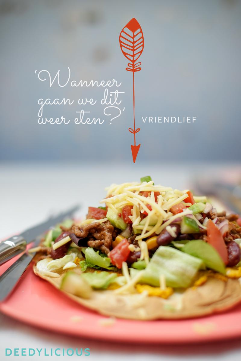 Mexicaanse tortizza's met pompoenhummus en pittige salsa | www.deedylicious.nl