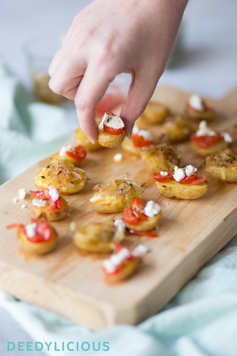 Aardappelbootjes met feestelijke topping   www.deedylicious.nl