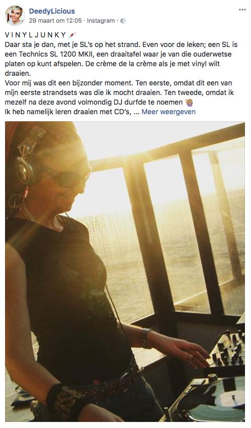 DJ Miss Deedy op Facebook van DeedyLicious | www.deedylicious.nl