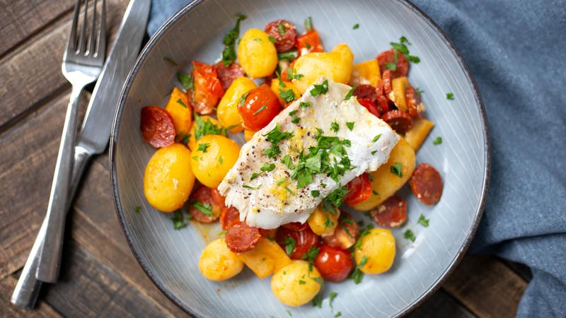 Kabeljauw met groenten uit de oven | www.deedylicious.nl