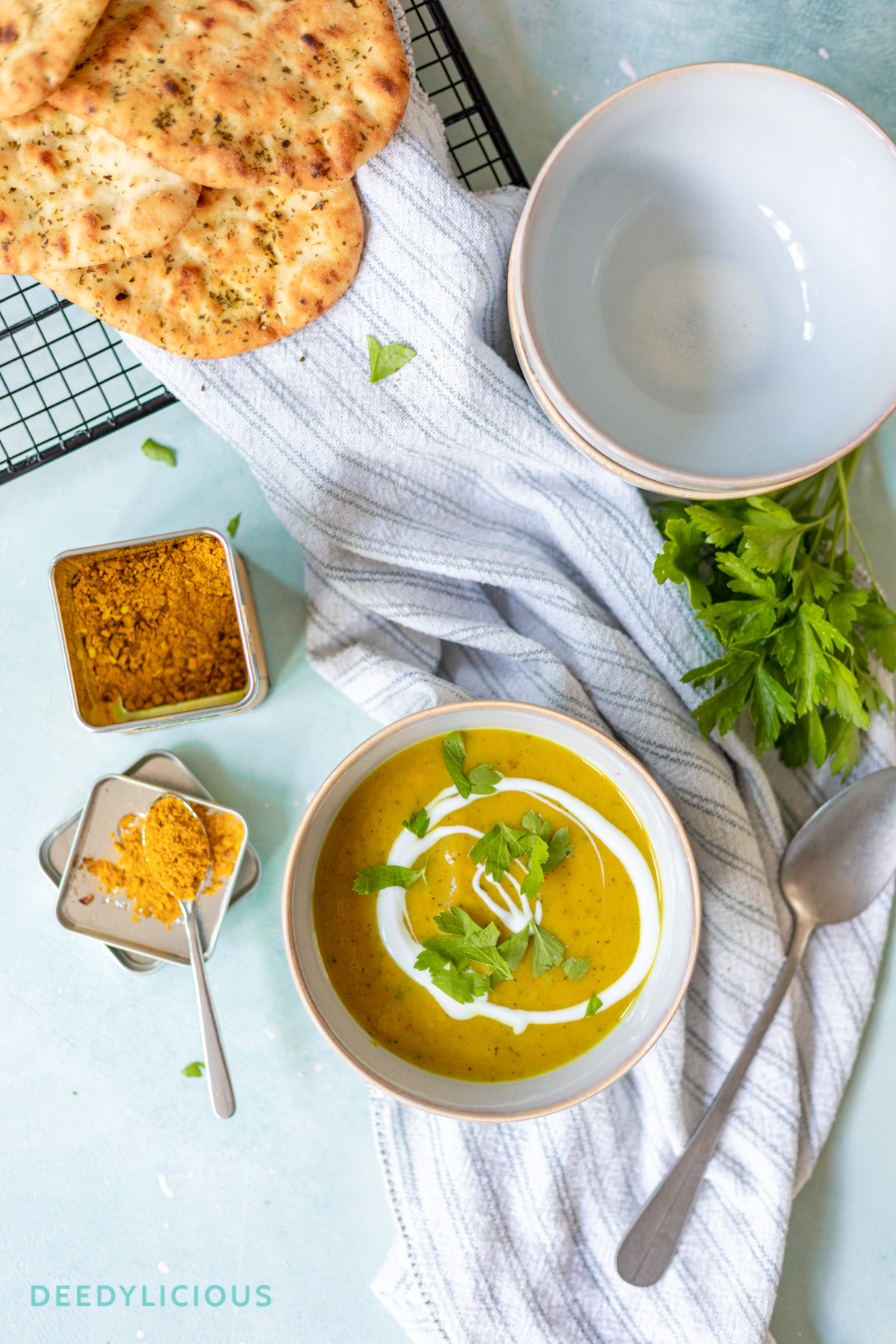 Courgettesoep met Curry Madras | www.deedylicious.nl