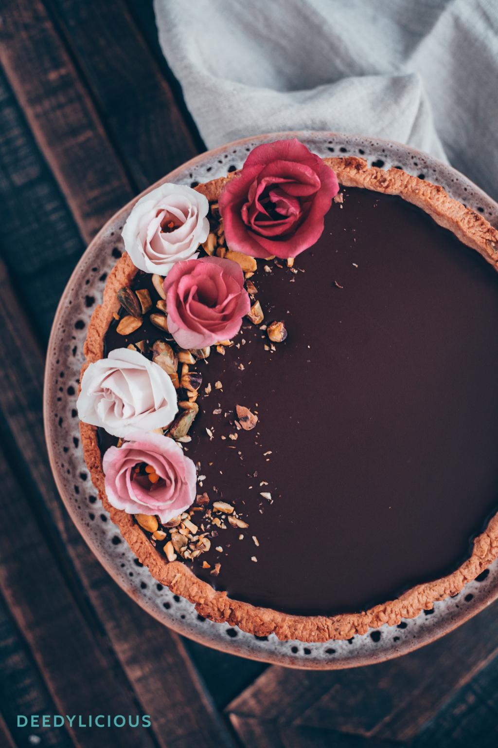 Italiaanse chocoladetaart met pistachenoten